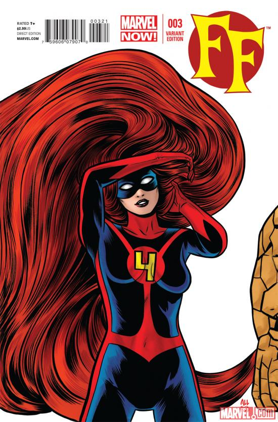 FF (2012) #3 variant cover by Mike Allred