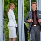 Gwyneth Paltrow and Guy Pearce star as Pepper Potts and Aldrich Killian in Marvel's Iron Man 3