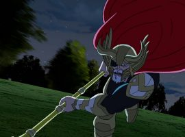 Odin charges into battle in Marvel's Avengers Assemble - All-Father's Day