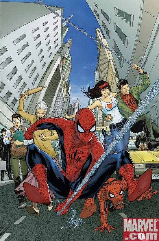 AMAZING SPIDER-MAN FAMILY #4 cover by Barry Kitson