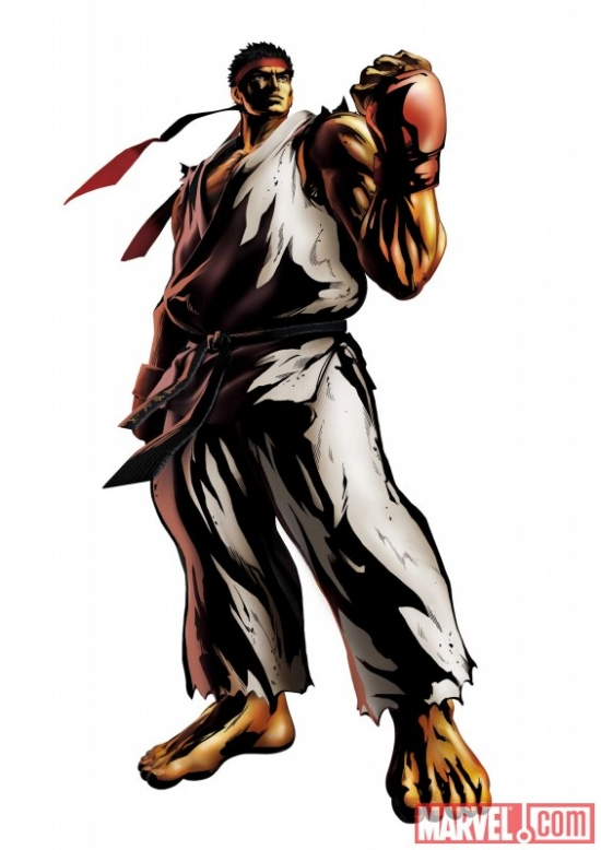 Marvel vs. Capcom 3: Fate of Two Worlds Ryu promo art