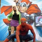 Gwen Stacey and Spider-Man cosplayers at Fan Expo Canada