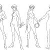 Character Concept Art from 'Wolverine' Anime