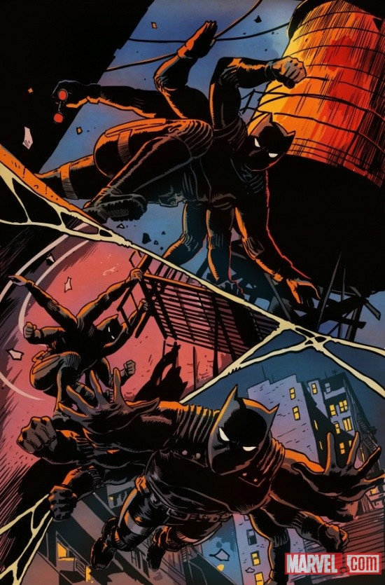 Black Panther in Spider-Island interior art by Francesco Francavilla