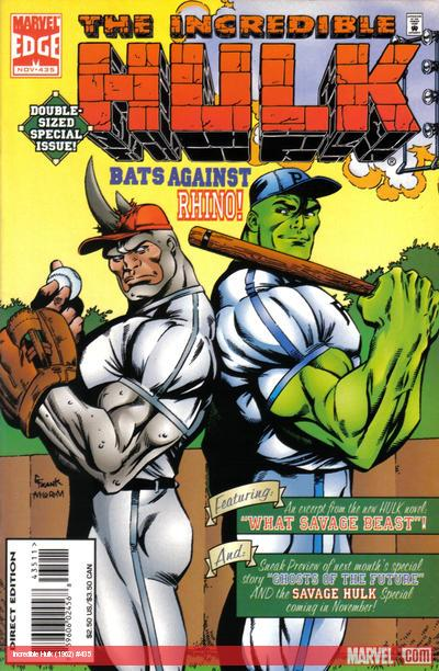 Hulk & Rhino play baseball in 1995