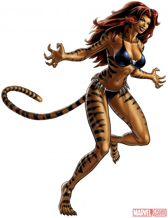 Tigra character model from Marvel: Avengers Alliance