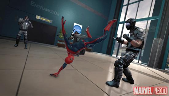 The amazing Spider-Man battles with goons