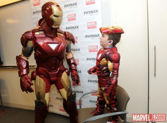 Marvel/Phonak event (photo by Diane Bondareff)