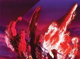 INVADERS #1 cover by Alex Ross