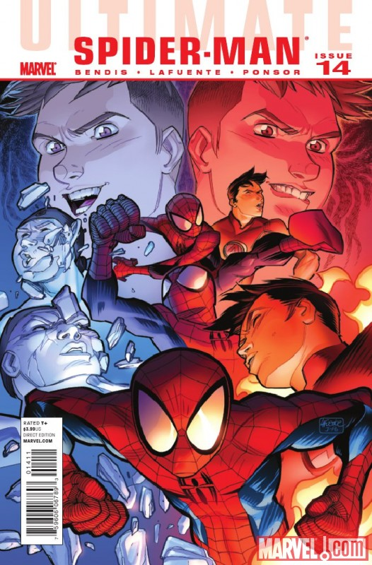 Image Featuring Iceman (Ultimate), Spider-Man (Ultimate)
