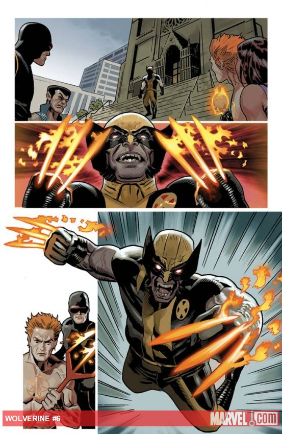 Wolverine (2010) #6 preview art by Daniel Acuna