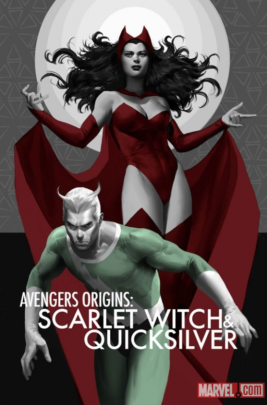 Avengers Origins: Scarlet Witch &amp; Quicksilver #1 cover by Marko Djurdjevic