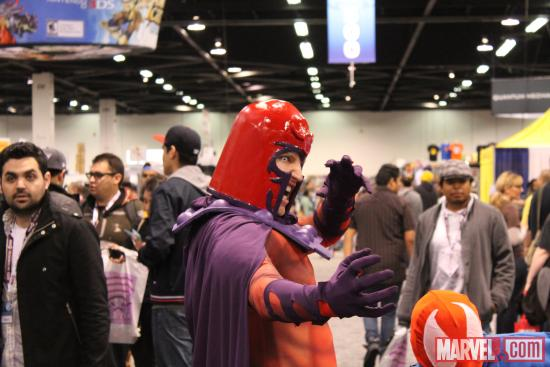 Magneto and Scarlet Spider cosplayers at WonderCon 2012