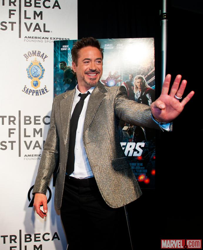 Robert Downey, Jr. at the Tribeca Film Festival screening of Marvel's The Avengers
