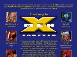 X-MEN FOREVER #6, intro page