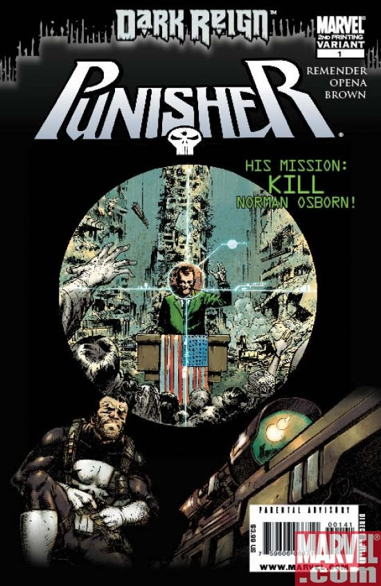 PUNISHER #1 Second Prunting Variant