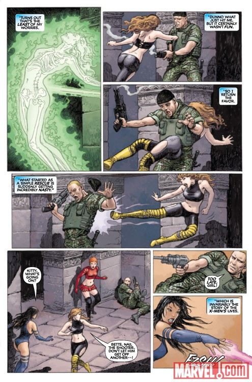 X-WOMEN #1 preview art by Milo Manara