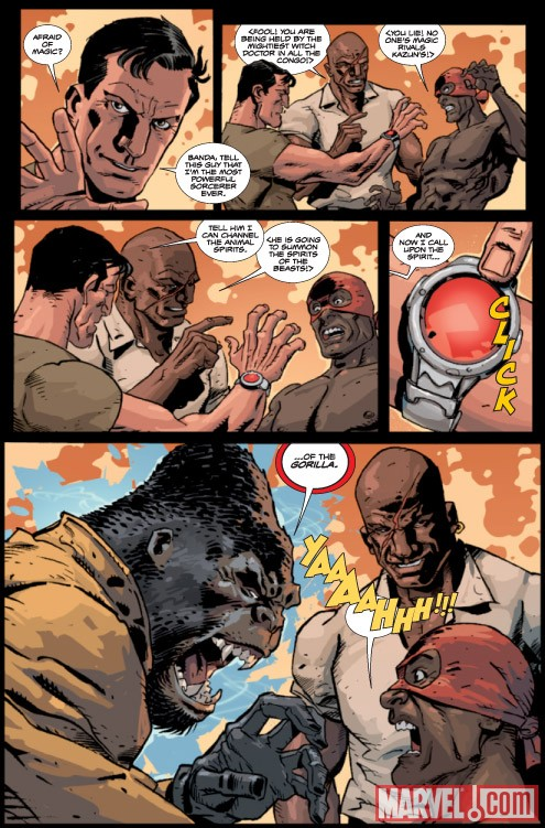 GORILLA-MAN #2 preview art by Giancarlo Caracuzzo