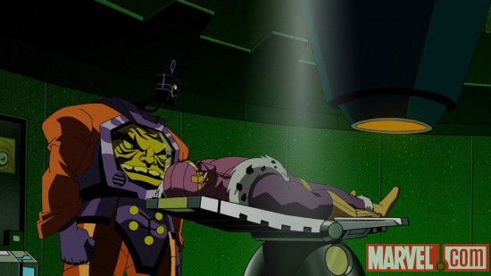 Baron Zemo and Arnim Zola from The Avengers: Earth's Mightiest Heroes!