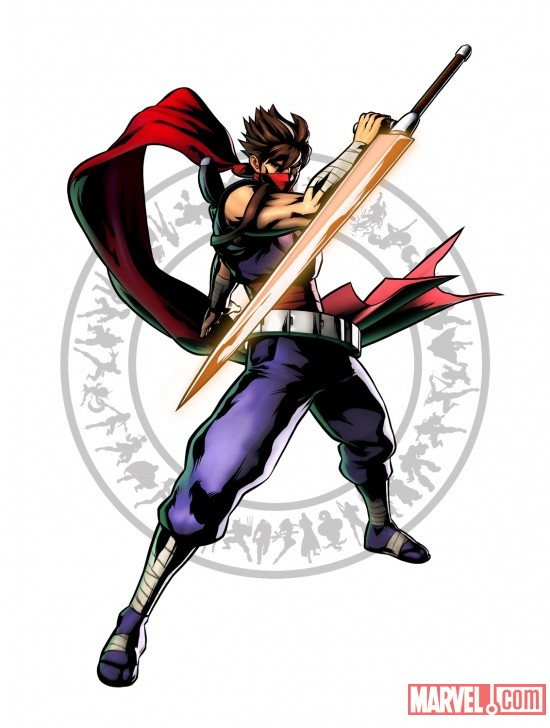 Strider Hiryu character art from Ultimate Marvel vs Capcom 3 by Capcom