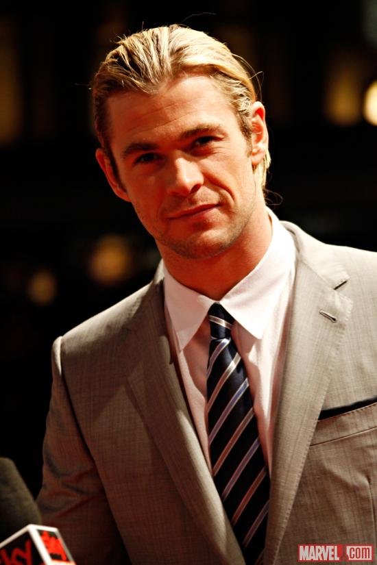 Chris Hemsworth (Thor) at the Rome red carpet premiere of Marvel's The Avengers