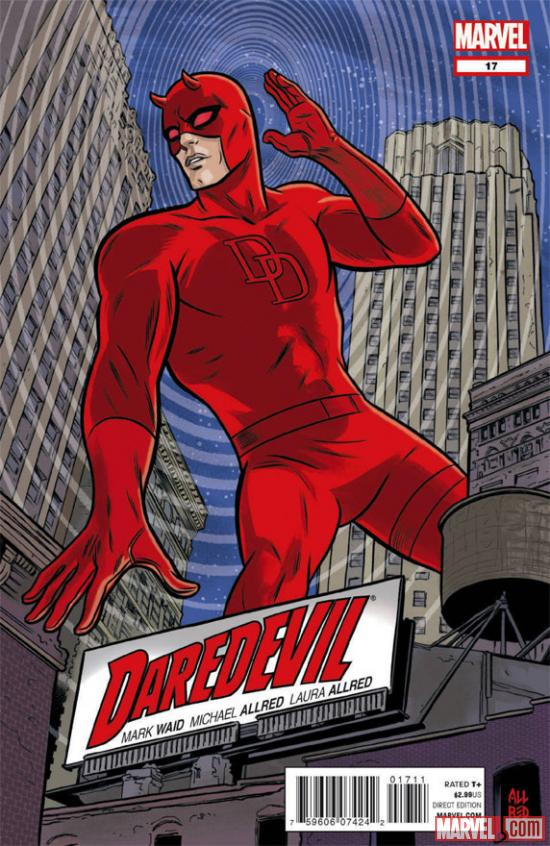 Daredevil #17 cover art preview by Michael Allred