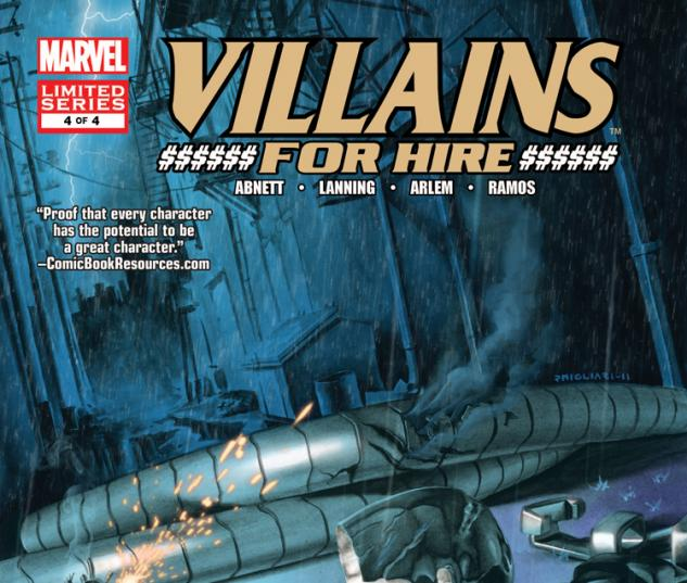 Villains For Hire (2011) #4