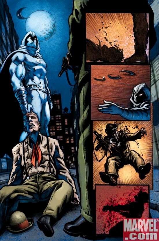 MOON KNIGHT #16 preview art by Mark Texeira