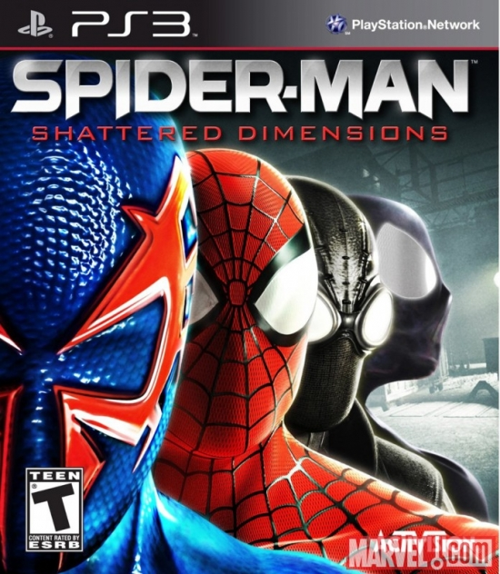 Spider-Man: Shattered Dimensions PS3 Box Art