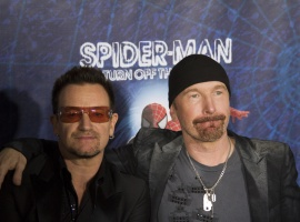 Bono and The Edge at the Spider-Man: Turn Off the Dark Premiere