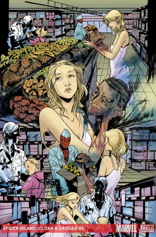 Spider-Island: Cloak &amp; Dagger #2 preview art by Emma Rios
