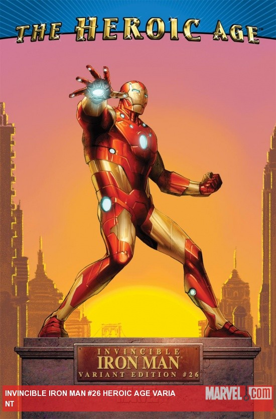 Invincible Iron Man (2008) #26, HEROIC AGE VARIANT