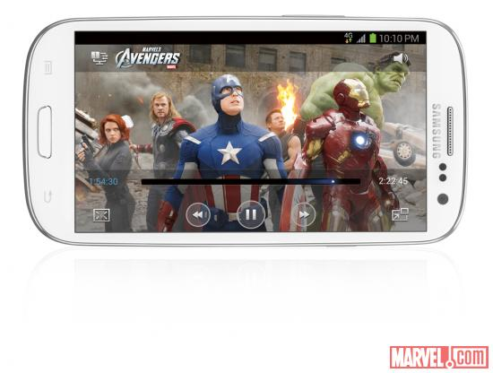 Marvel's The Avengers on Samsung Galaxy S III