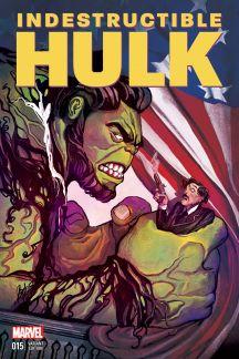 Indestructible Hulk #15  (Del Mundo Time Travel Variant)