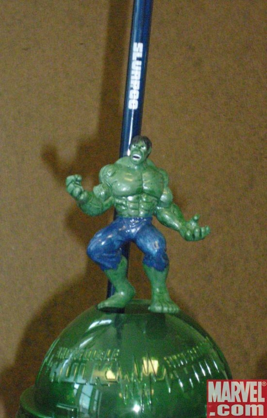 Roaring Hulk Slurpee straw