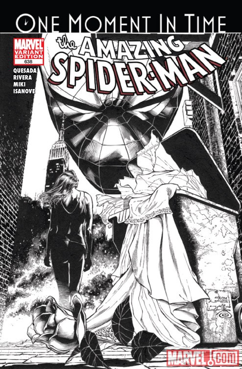 AMAZING SPIDER-MAN #638 sketch variant cover by Joe Quesada