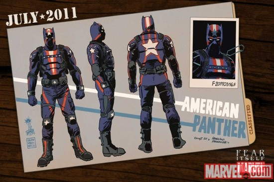 American Panther designs by Francesco Francavilla