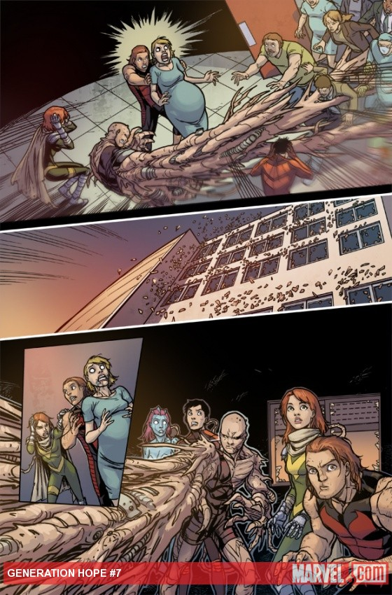 Generation Hope #7 preview art by Salva Espin
