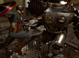 Screenshot of Cap vs. Iron Cross from Captain America: Super Soldier