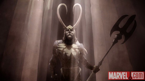 Loki triumphant in Thor &amp; Loki: Blood Brothers