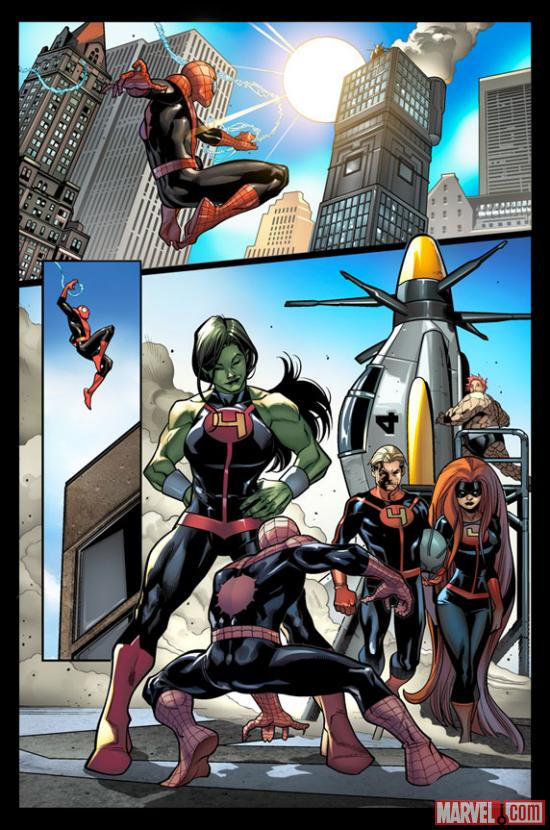 Avenging Spider-Man #17 preview art