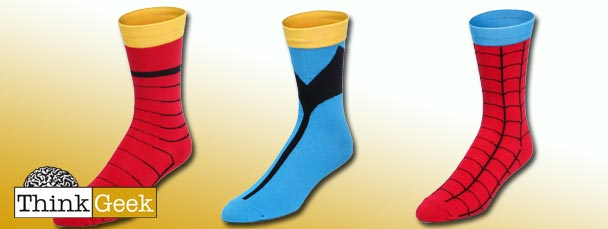 Super Hero Socks from ThinkGeek