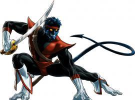 Nightcrawler (Swashbuckler alternate costume) character model from Marvel: Avengers Alliance