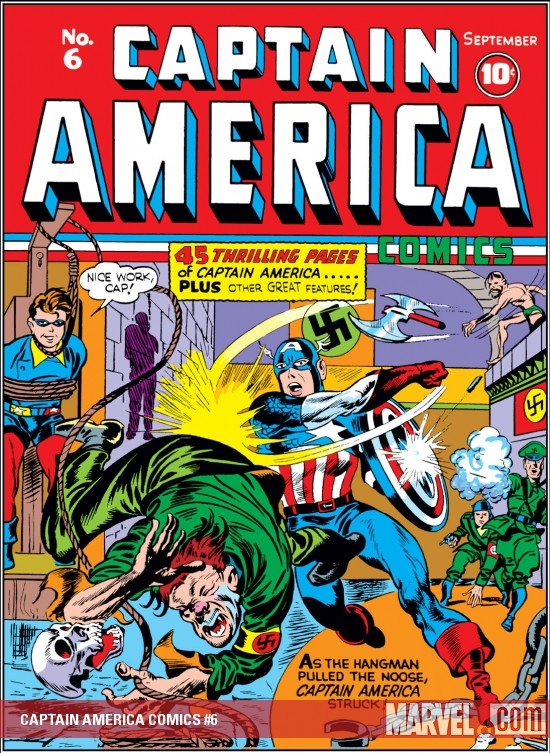 CAPTAIN AMERICA COMICS #6 COVER