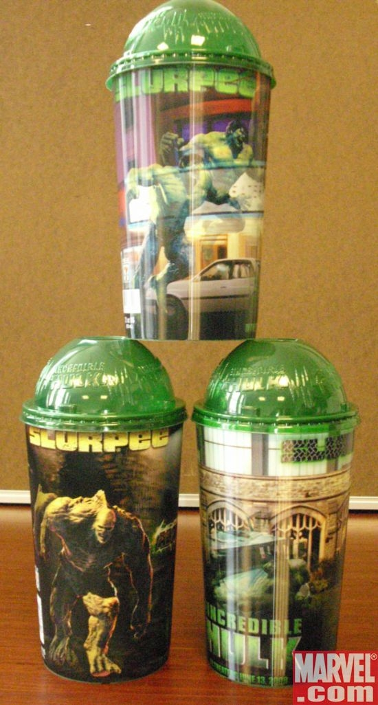 Pyramid stacked Incredible Hulk novelty cups