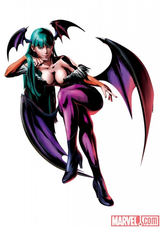 Marvel vs. Capcom 3: Fate of Two Worlds Morrigan promo art