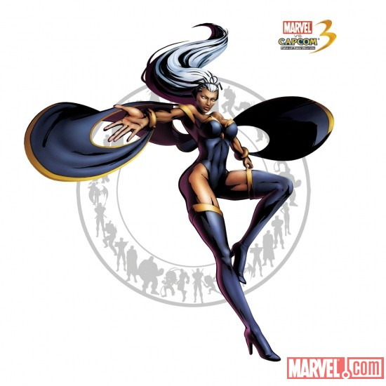 Storm character art from Marvel vs. Capcom 3