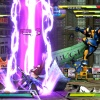 Screenshot of Ryu vs. Wolverine and Dante in Shadow Mode in Marvel vs. Capcom 3