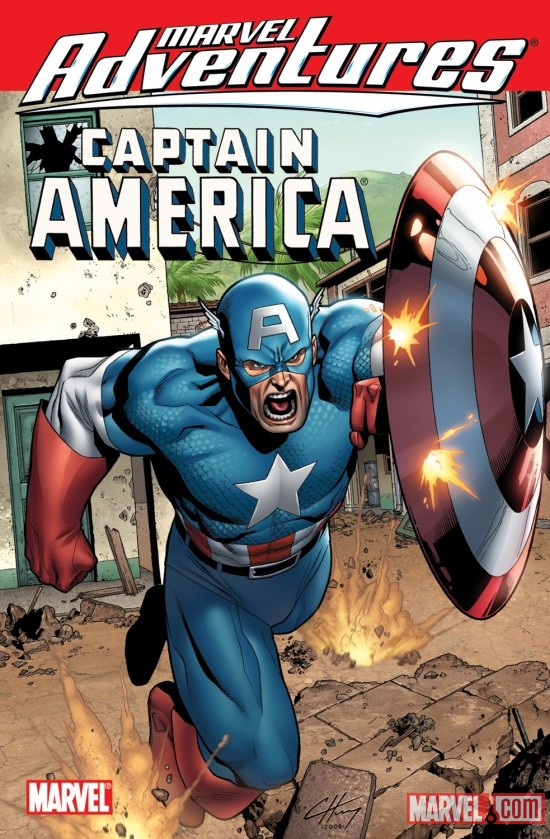 MARVEL ADVENTURES AVENGERS: CAPTAIN AMERICA DIGEST cover by Clayton Henry