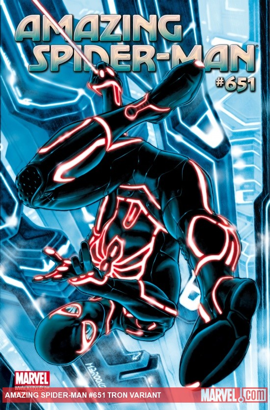 Amazing Spider-Man (1999) #651, Tron Variant